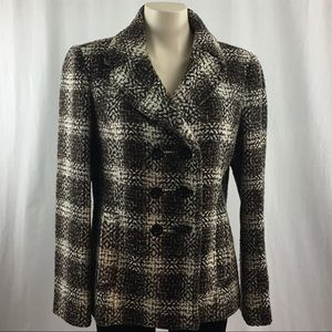 Ann Taylor Wool Double Breasted Coat M